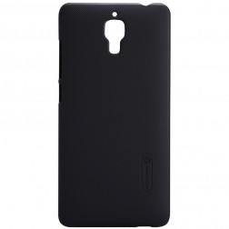 """Nillkin"" Frosted Shield apvalks - melns + ekrāna aizsargplēve (Mi 4)"