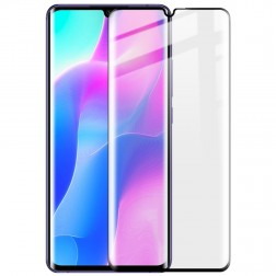 """""""Calans"""" Tempered Glass pilnīgi aizsedzams ekrāna aizsargstikls 0.2 mm - melns (Mi Note 10 Lite)"""