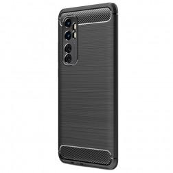 """""""Carbon"""" cieta silikona (TPU) apvalks - melns (Mi Note 10 Lite)"""