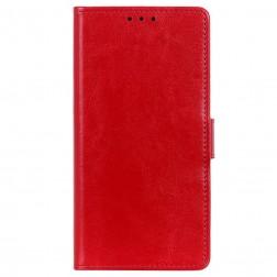 Atvēramais maciņš, grāmata - sarkans (Poco F3 / Mi 11i)