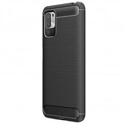 """""""Carbon"""" cieta silikona (TPU) apvalks - melns (Poco M3 Pro / Redmi Note 10 5G)"""
