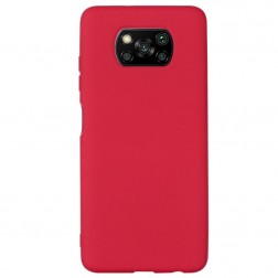 """Shell"" cieta silikona (TPU) apvalks - sarkans (Poco X3 / X3 Pro)"