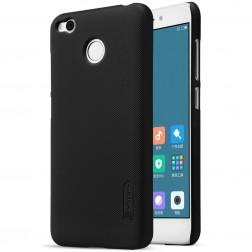 """Nillkin"" Frosted Shield apvalks - melns + ekrāna aizsargplēve (Redmi 4X)"