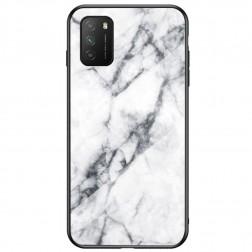 """""""Marble"""" cieta silikona (TPU) apvalks - balts (Redmi 9T 5G)"""