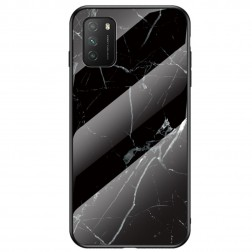 """""""Marble"""" cieta silikona (TPU) apvalks - melns (Redmi 9T 5G)"""