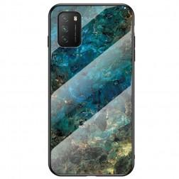 """""""Marble"""" cieta silikona (TPU) apvalks - zils (Redmi 9T 5G)"""