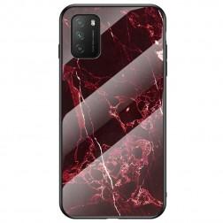 """Marble"" cieta silikona (TPU) apvalks - sarkans (Redmi 9T 5G)"