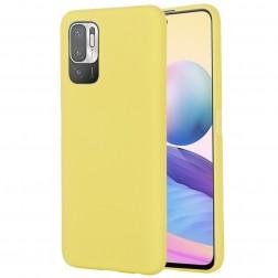 """Shell"" cieta silikona (TPU) apvalks - dzeltens (Poco M3 Pro / Redmi Note 10 5G)"