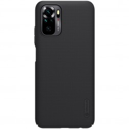 """""""Nillkin"""" Frosted Shield apvalks - melns (Redmi Note 10S / Note 10 4G)"""