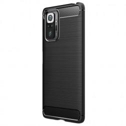 """""""Carbon"""" cieta silikona (TPU) apvalks - melns (Redmi Note 10 Pro)"""
