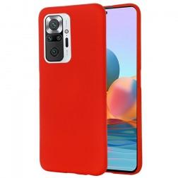 """Shell"" cieta silikona (TPU) apvalks - sarkans (Redmi Note 10 Pro)"