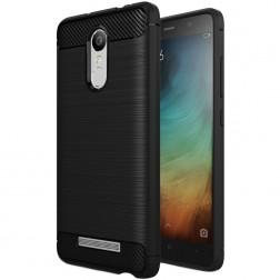 """""""Carbon"""" cieta silikona (TPU) apvalks - melns (Redmi Note 3 / Redmi Note 3 Pro)"""