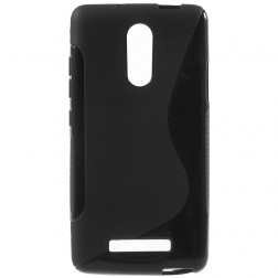 Cieta silikona (TPU) apvalks - melns (Redmi Note 3 / Redmi Note 3 Pro)