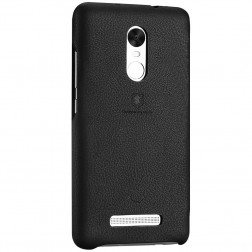 """Lenuo"" Soft Slim ādas apvalks - melns (Redmi Note 3 / Redmi Note 3 Pro)"