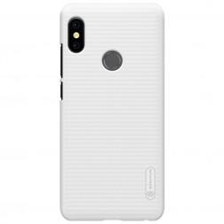 """Nillkin"" Frosted Shield apvalks - balts + ekrāna aizsargplēve (Redmi Note 5 2018)"