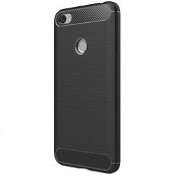 """Carbon"" cieta silikona (TPU) apvalks - melns (Redmi Note 5A)"