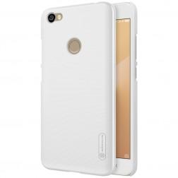 """Nillkin"" Frosted Shield apvalks - balts + ekrāna aizsargplēve (Redmi Note 5A)"