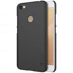 """Nillkin"" Frosted Shield apvalks - melns + ekrāna aizsargplēve (Redmi Note 5A)"