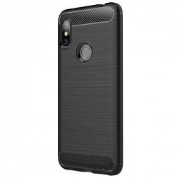 """""""Carbon"""" cieta silikona (TPU) apvalks - melns (Redmi Note 6 Pro)"""