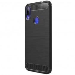 """""""Carbon"""" cieta silikona (TPU) apvalks - melns (Redmi Note 7)"""