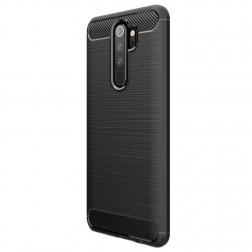 """""""Carbon"""" cieta silikona (TPU) apvalks - melns (Redmi Note 8 Pro)"""