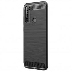 """""""Carbon"""" cieta silikona (TPU) apvalks - melns (Redmi Note 8T)"""