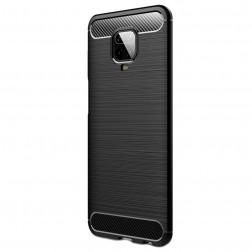 """""""Carbon"""" cieta silikona (TPU) apvalks - melns (Redmi Note 9 Pro)"""