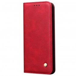 """Deluxe"" atvēramais maciņš - sarkans (Redmi Note 9 Pro)"