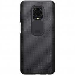 """Nillkin"" CamShield apvalks - melns (Redmi Note 9 Pro)"