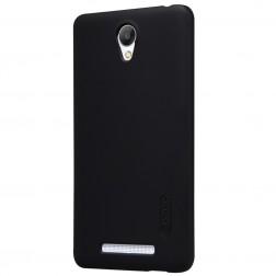 """Nillkin"" Frosted Shield apvalks - melns + ekrāna aizsargplēve (Redmi Note 2)"