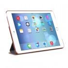 """Greznais """"HOCO"""" Retro sērijas ādas atvērams brūns Apple iPad Air 2 futrālis"""