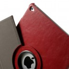Apple iPad Air 2 solīds atvēramais sarkans ādas futrālis (360°) - statīvs