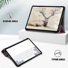"Apple iPad Air 4 10.9"" (2020) atvēramais bordo maciņš"