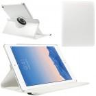 Apple iPad Air 2 solīds atvēramais balts ādas futrālis (360°) - statīvs