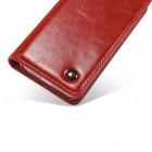 """Apple iPhone 5 / 5s """"CaseMe"""" solīds atvēramais ādas sarkans maciņš - maks"""