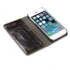 """Apple iPhone 5 / 5s """"CaseMe"""" solīds atvēramais ādas brūns maciņš - maks"""