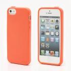"""Elago"" cieta silikona Apple iPhone 5, 5S oranžs apvalks ar ekrāna aizsargplēve"