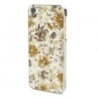 "Dzeltens ""Ziedi"" plastmasas Apple iPhone 5 / 5S apvalks"