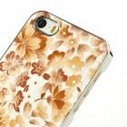 "Oranžs ""Ziedi"" plastmasas Apple iPhone 5 / 5S apvalks"