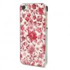 "Sarkans ""Ziedi"" plastmasas Apple iPhone 5 / 5S apvalks"