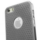 Stilīgs sudrabs, metāla Apple iPhone 5, 5S apvalks