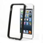 Apple iPhone 5 / 5S klasiskais melns cieta silikona rāmis (sānu apmale, bamperis)