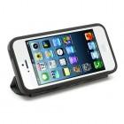 Atvēramais melns rāmis Apple iPhone 5 (Apple iPhone 5S) ar smart cover funkciju
