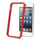 Apple iPhone 5 / 5S klasiskais sarkans cieta silikona rāmis (sānu apmale, bamperis)