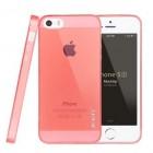 Apple iPhone 5S Leiers dzidrs (caurspīdīgs) cieta silikona TPU pasaulē planākais rozs futrālis