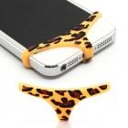 Dzeltena, leoparda mīksta silikona elefona apakšbikses