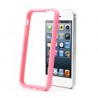Apple iPhone 5 / 5S klasiskais rozs cieta silikona rāmis (sānu apmale, bamperis)