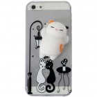 "Apple iPhone 5, 5s un SE ""Squezy"" Cat cieta silikona (TPU) dzidrs apvalks"