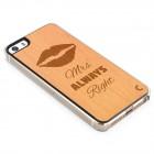 "Apple iPhone 5S ""Crafted Cover"" Mrs Always Right dabīga koka telefona apvalks"