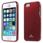 Apple iPhone 5, 5S Mercury Color sarkans cieta silikona (TPU) futrālis